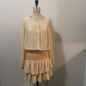 ANTIK BATIK Nude Silk Dress Frawley Mini NWT